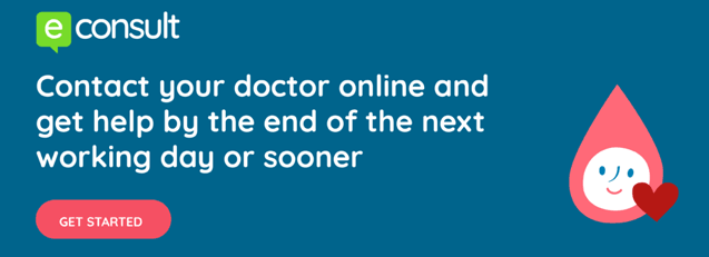Contact your doctor online and get help by the end of the next working day